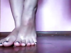 Amateur, Close Up, Foot Fetish, POV, Webcam