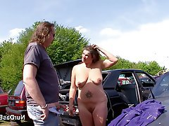 Amateur, German, MILF, Old and Young, Outdoor