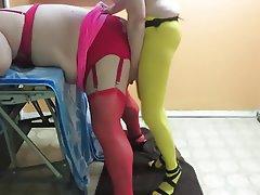Anal, Femdom, Stockings, Strapon