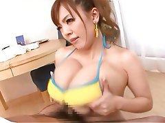 Asian, Handjob, Big Boobs, Japanese