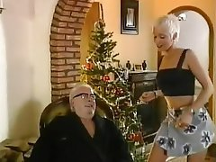 Babe, Blonde, Blowjob, Old and Young, Skinny