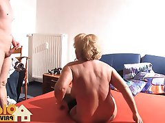 Blonde, Blowjob, Cumshot, German, Old and Young