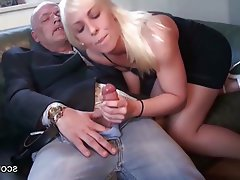 Old and Young, Blonde, Cum in mouth, German