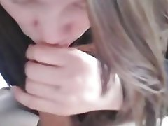 Amateur, Blonde, Blowjob, Cum in mouth
