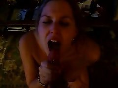 Amateur, Blowjob, Cum in mouth, Cumshot, Husband