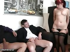 Mature, MILF, Old and Young, Granny, Threesome