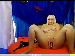Blonde, Masturbation, Webcam