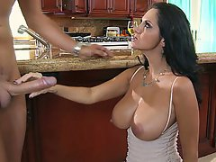 MILF, Wife, Brunette, Kitchen