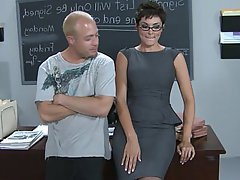 Teacher, Glasses, Blowjob, Babe