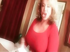 Big Boobs, Blonde, Granny, Handjob