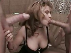 Blowjob, MILF, Old and Young, Threesome