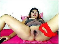 BBW, Big Boobs, Hairy, Thai, Webcam
