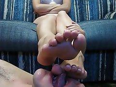 Amateur, Blonde, Femdom, Foot Fetish, Russian