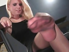 Blonde, Stockings, Foot Fetish