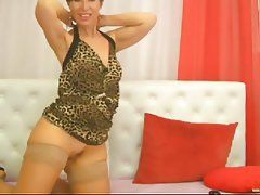 Mature, Stockings, Webcam