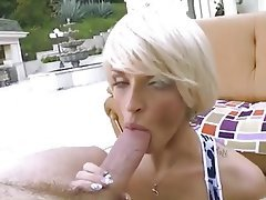 Blonde, Blowjob, Close Up, MILF
