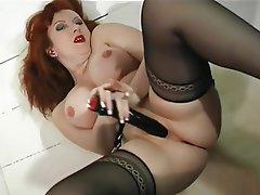 MILF, Pantyhose, Redhead, Stockings