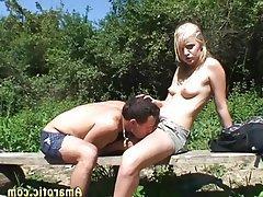 Blonde, Outdoor, Small Tits, Teen, Czech