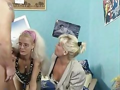 Amateur, Blonde, Old and Young, Threesome