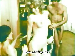 Blowjob, Group Sex, Hairy, Threesome, Vintage