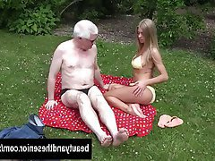 Blonde, Blowjob, Hardcore, Old and Young, Outdoor