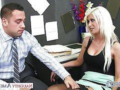 Blonde, Blowjob, Hardcore, Lingerie, Pornstar