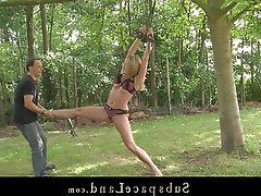 BDSM, Blonde, Outdoor, Spanking