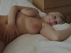 Big Boobs, Blonde, Lingerie, Pantyhose